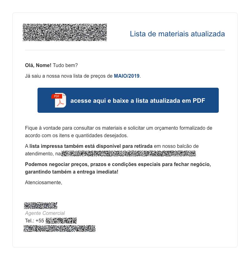 Exemplo de email marketing de ofertas para negócios B2B